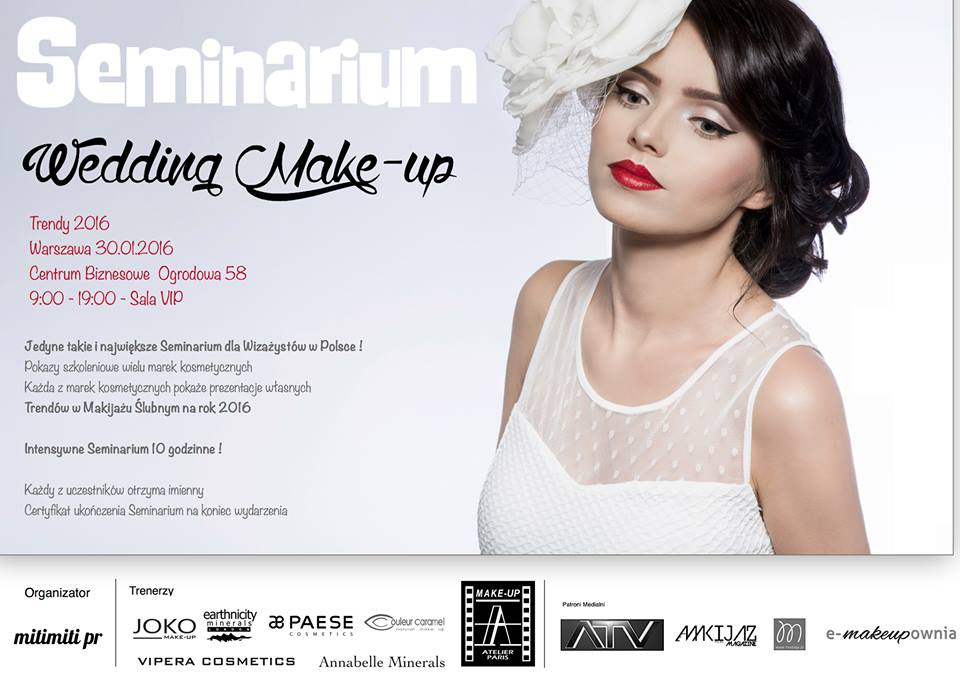 The official poster of the Wedding Makeup Seminar