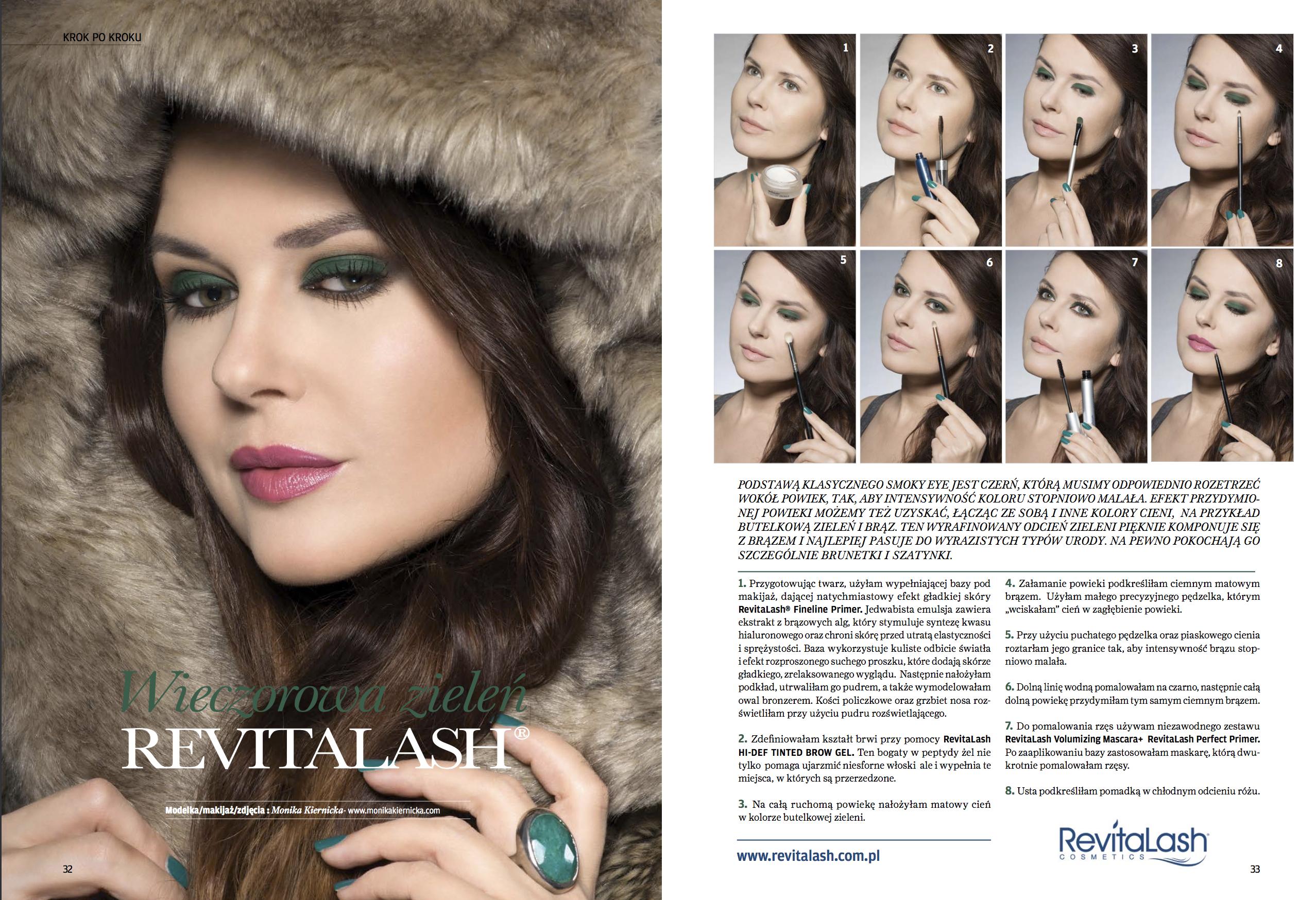 RevitaLash advertisement - Make-up Trendy Magazine 12/2015